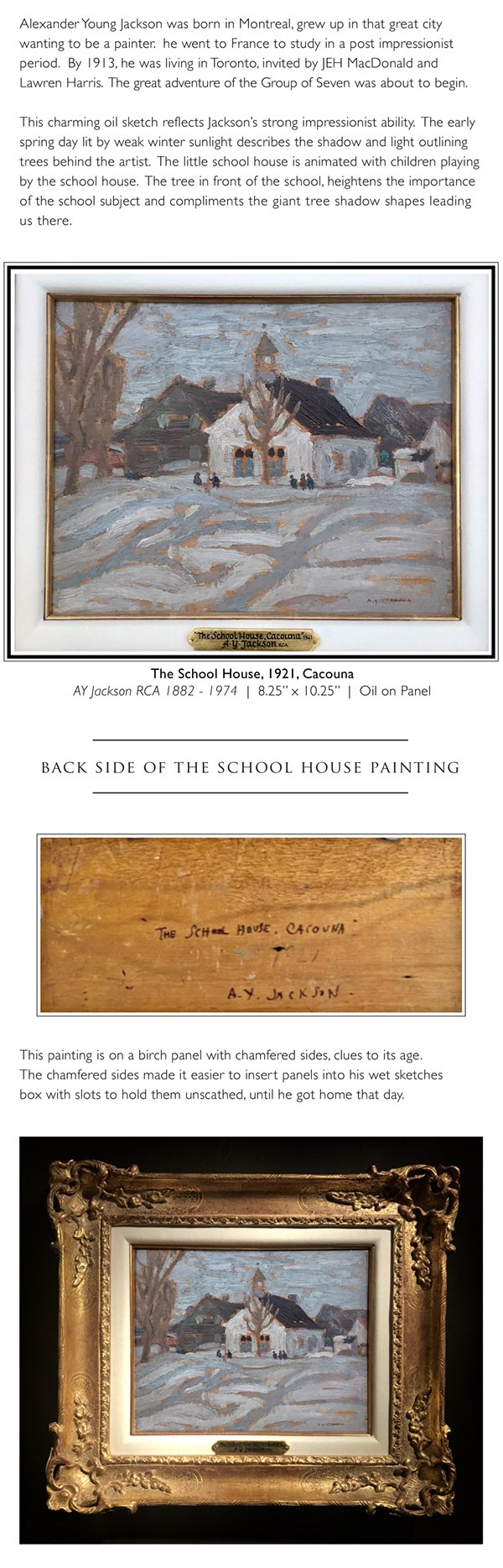A.Y. Jackson - Sketching the Schoolhouse
