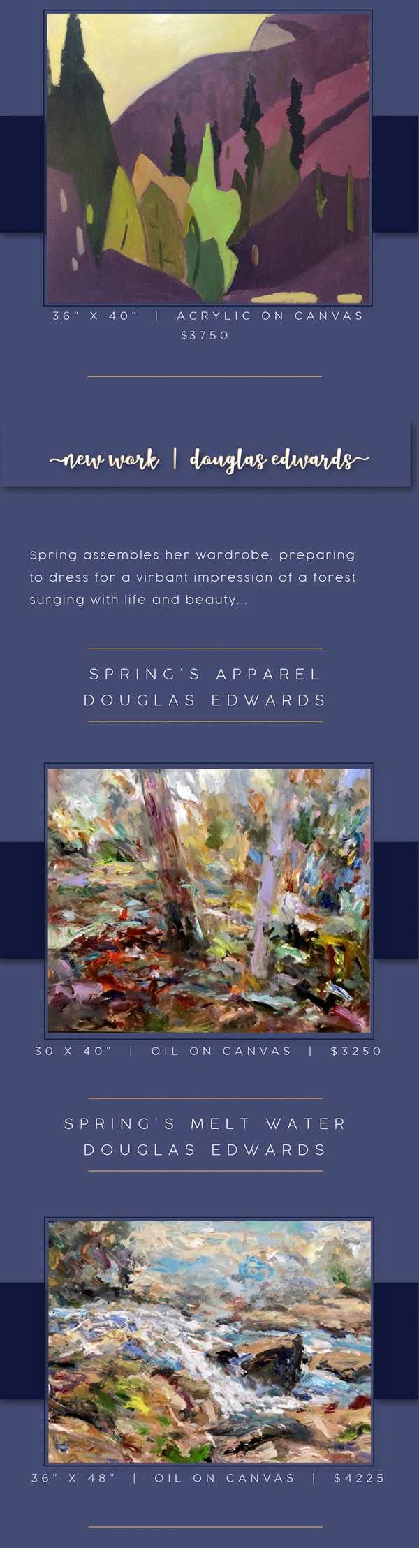 The Dawning of Spring - Show of Original Fine Paintings